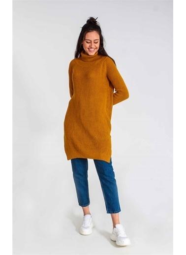 Collezione Collezione Boğazlı Uzun  Kadın Tunik Hardal